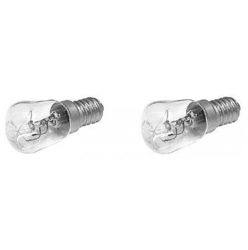 2 lampadine ad incandescenza per frigorifero 15 watt e14 for Lampadine incandescenza
