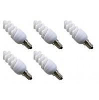 5 LAMPADINE A BASSO CONSUMO RISPARMIO ENERGETICO 13 WATT E14 LUCE GIALLA 2700K