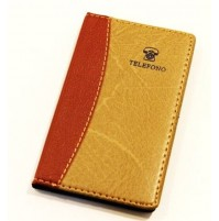 AGENDA RUBRICA TELEFONICA IN SIMILPELLE 145 X 90 mm