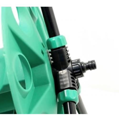 Carrello porta arrotola tubo acqua per irrigazione 45 metri - Porta acqua per termosifoni ...
