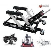 CAVALLETTO SOLLEVATORE IDRAULICO MANUALE PER MOTO MOTOCICLI 680Kg ALT. MAX 375mm