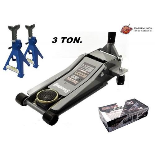 Cric sollevatore idraulico a carrello a pedale 3 ton for Cric idraulico a carrello professionale prezzi
