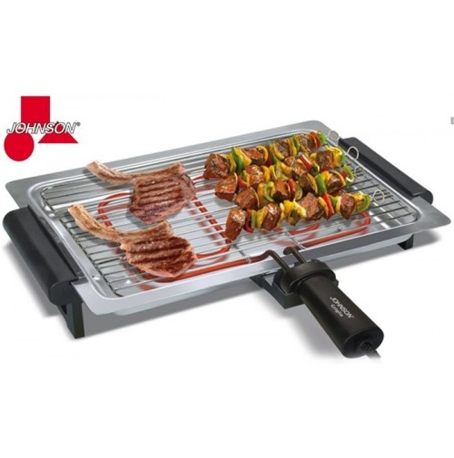 Griglia barbecue elettrico johnson griglia 1740 watt for Griglia per barbecue bricoman