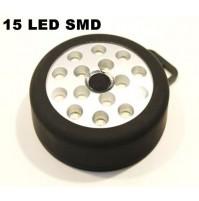 LAMPADA PORTATILE A 15 LED SMD AD ALTO RENDIMENTO ALIMENTAZIONE A BATTERIE