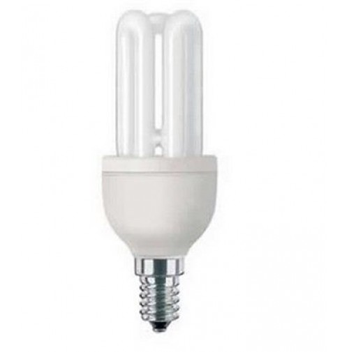 LAMPADINA A BASSO CONSUMO RISPARMIO ENERGETICO 11 WATT LUCE CALDA 2700K PASSO E1