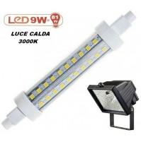 LAMPADINA A LED SMD X FARO ALOGENO DA ESTERNO 9W = 81W 720 lm LUCE CALDA 3000K
