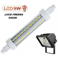 LAMPADINA A LED SMD X FARO ALOGENO DA ESTERNO 9W = 81W 720 lm LUCE FREDDA 6500K