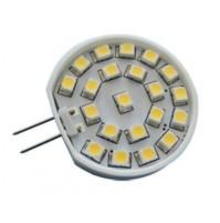 LAMPADINA G4 12VOLT A 24 LED SMD LUCE CALDA BASSO CONSUMO RISPARMIO ENERGETICO