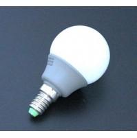 LAMPADINA MINI SFERA A LED RISPARMIO ENERGETICO 3 WATT E14 LUCE FREDDA 6500K