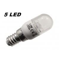 LAMPADINA PER FRIGORIFERO A 5 LED A RISPARMIO ENERGETICO 0,5 WATT