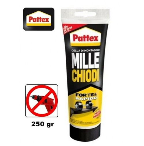 PATTEX MILLE CHIODI COLLA MASTICE SUPER EFFICACE PRESA IMMEDIATA 250 gr PATTEX