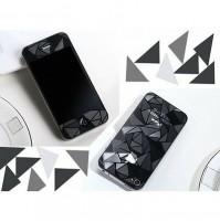 PELLICOLA 2 PEZZI FRONTE RETRO PER IPHONE 4 E 4S EFFETTO DIAMANTE 3D CON PANNO