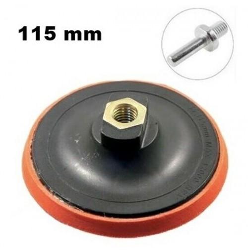 PLATORELLO CON VELCRO X CARTA VETRATA 115 mm X TRAPANO E SMERIGLIATRICE ANGOLARE