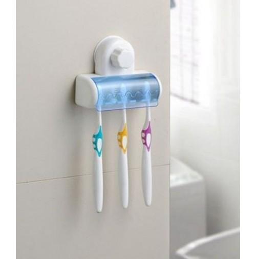 Porta spazzolino da denti x bagno con fissaggio a ventosa - Spazzolino bagno ...