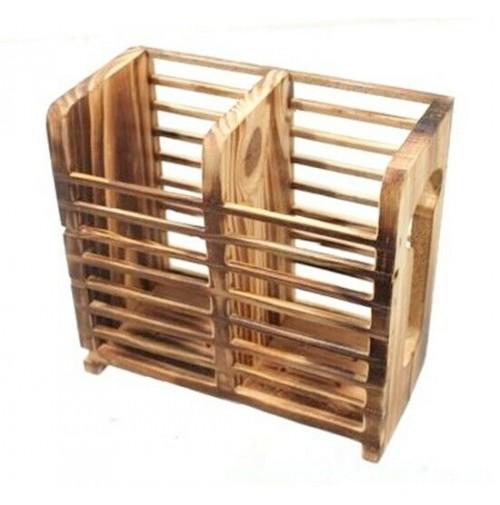 Portaposate porta posate e mestoli da cucina in legno naturale for Mestoli da cucina vendita online