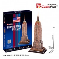 PUZZLE 3D DELL'EMPIRE STATE BUILDING 39 PEZZI CM 16,5 X 12 X H 38,5 (NO COLLA)
