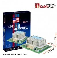 PUZZLE 3D RIPRODUZIONE ABRAHAM LINCOLN MEMORIAL 41 PEZZI CM 25,5  X 31 X H 12