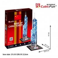 PUZZLE 3D RIPRODUZIONE BANK OF CHINA 14 PEZZI CM 20,3 X 20,3 X H 54 (NO COLLA)