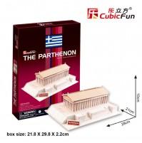 PUZZLE 3D RIPRODUZIONE DEL PARTENONE GRECO 25 PEZZI CM 28 X 21 X H 10 (NO COLLA)