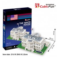 PUZZLE 3D RIPRODUZIONE DELLA CASA BIANCA U.S.A 65 PEZZI CM 28X21Xh19 (NO COLLA)