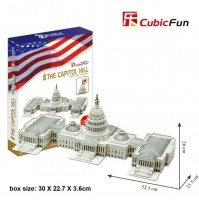 PUZZLE 3D RIPRODUZIONE DI CAPITOL HILL U.S.A 132 PEZZI CM 52,5X23Xh20 (NO COLLA)