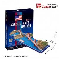 PUZZLE 3D RIPRODUZIONE PONTE GOLDEN GATE 20 PEZZI CM 48 X 20 X H 11 (NO COLLA)