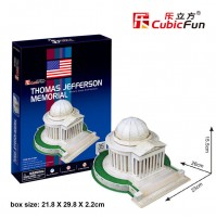 PUZZLE 3D RIPRODUZIONE  THOMAS JEFFERSON MEMORIAL 35 PEZZI CM 23 X 26 X H 15,5