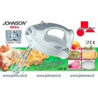 SBATTITORE AD IMMERSIONE 5 VELOCITA' + TURBO 150 WATT JOHNSON 2 COPPIE DI FRUSTE