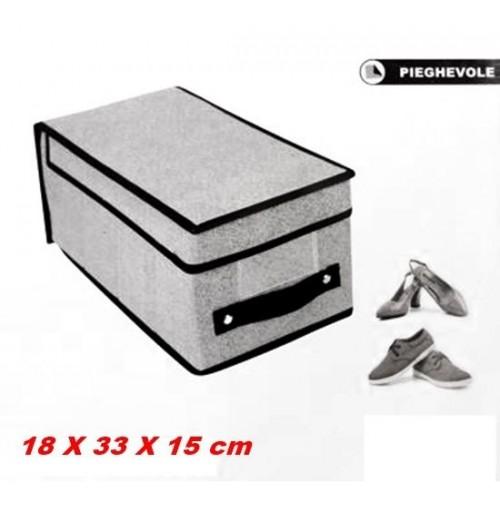 Contenitori In Plastica Pieghevoli.Scatola Box Contenitore Pieghevole A Tre Cassetti In Plastica Rigida