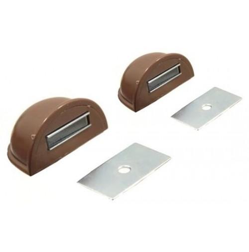 Set 2 ganci cuneo adesivi ferma blocca porta finestre con fissaggio magnetico - Blocca finestra aperta ...
