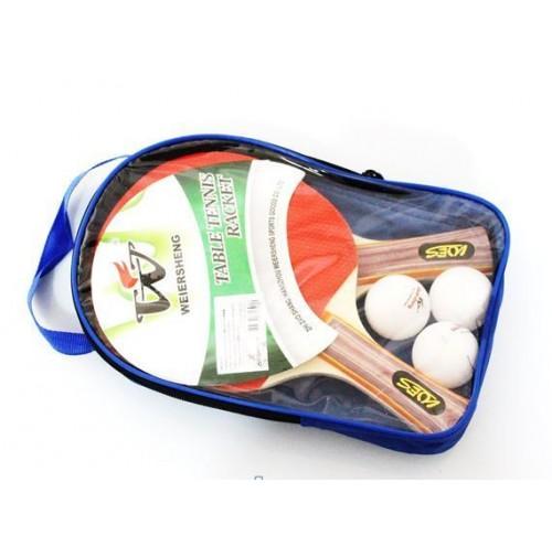 Set 2 racchette ping pong tennis da tavolo 3 palline con sacca custodia - Costo tavolo da ping pong ...