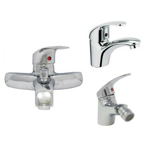 Set 3 rubinetti miscelatori da bagno vasca lavandino - Rubinetti per vasca da bagno ...
