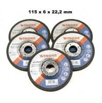SET 5 DISCHI X SBAVO SMERIGLIO METALLO 6 mm X SMERIGLIATRICE ANG. FLEX 115 mm