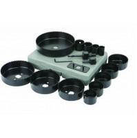 SET SEGHE A TAZZA 16 PEZZI  PER LEGNO e CARTONGESSO PLASTICA 19 -- 127 mm