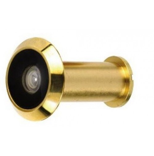 Spioncino occhio magico non digitale in metallo ottonato for Occhio magico per porte