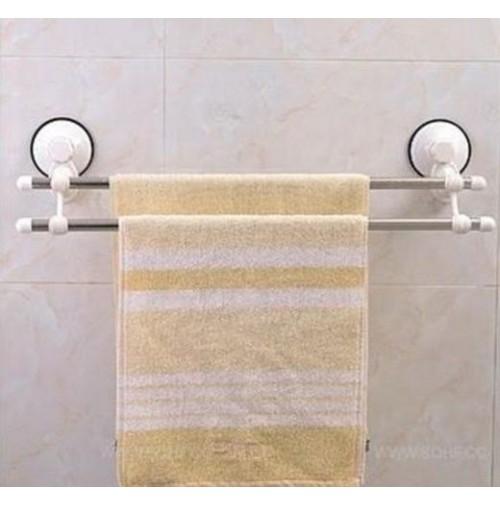 Supporto porta asciugamani x bagno a due aste fissaggio a ventosa niente fori - Asciugamani bagno firmati ...