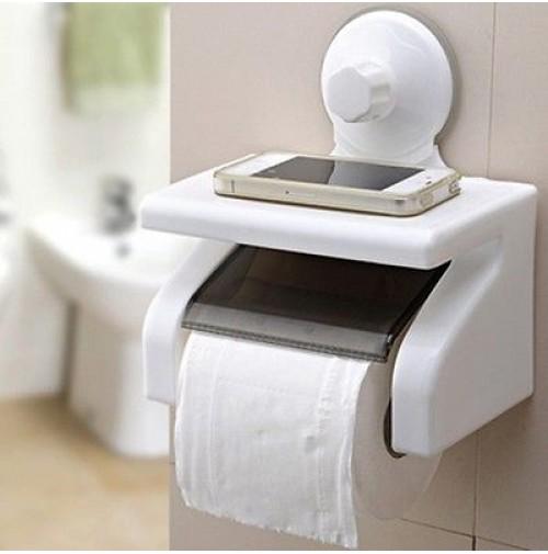 Portarotolo Carta Igienica Ventosa.Supporto Porta Rotolo Carta Igienica X Bagno Fissaggio A Ventosa Niente Fori
