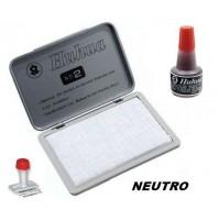 TAMPONE CUSCINETTO SPUGNA NEUTRO X TIMBRI 120 X 85 mm + INCHIOSTRO ROSSO 30ml