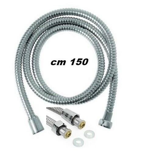TUBO FLESSIBILE PER DOCCIA PVC CON RIVESTIMENTO CROMATO CM 150