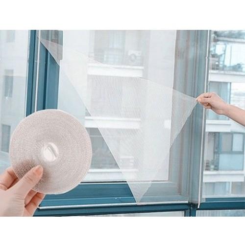 Zanzariera bianca in poliestere per porta e finestra 150x180 fissaggio a velcro - Costo zanzariera porta finestra ...